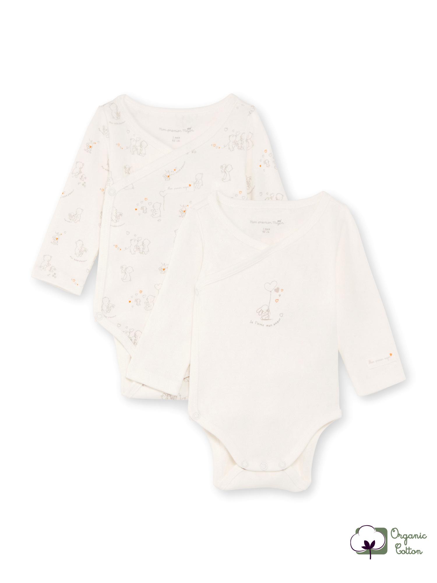 2 bodys blancs naissance mixte