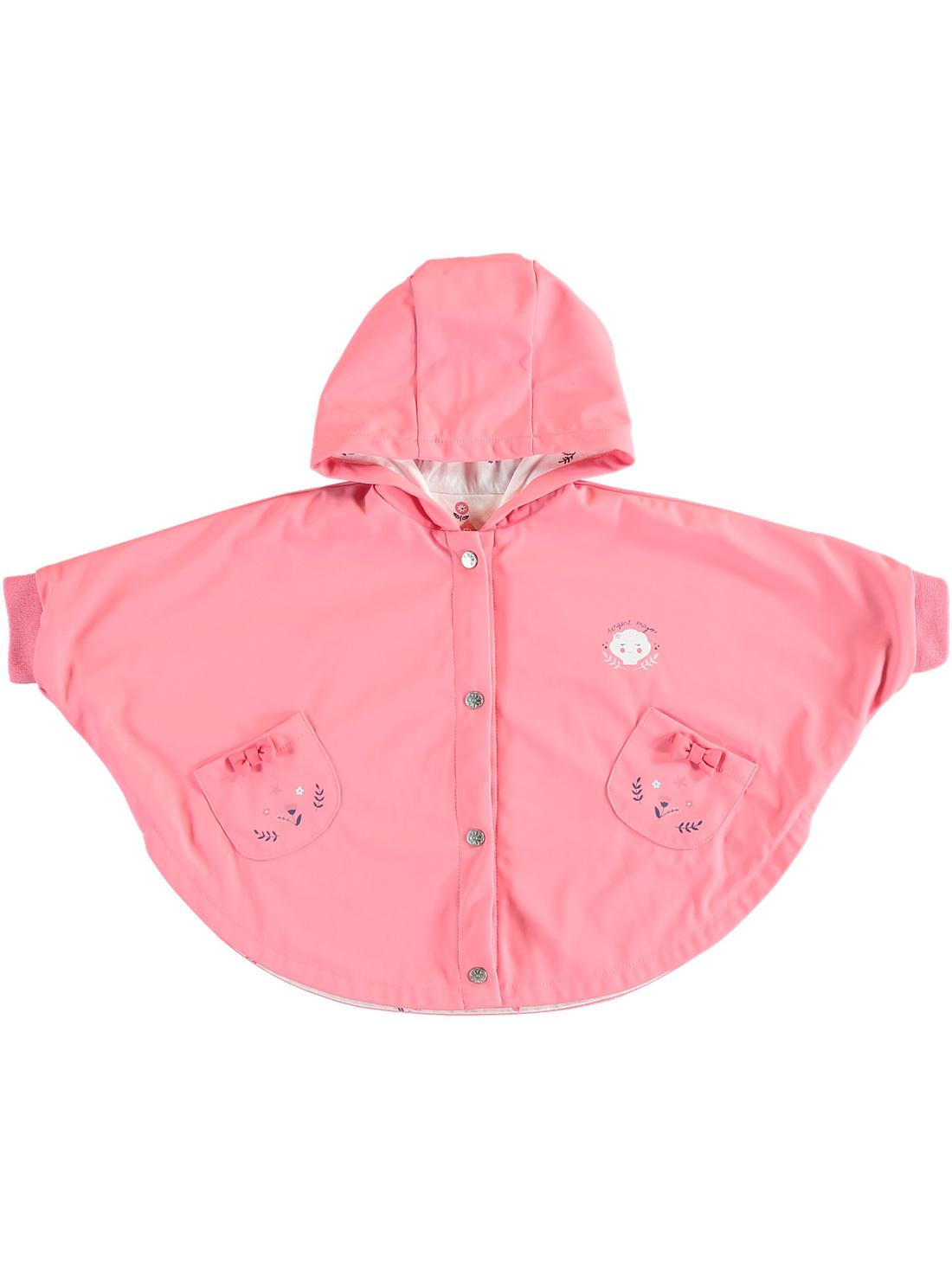 Cape de pluie rose bébé fille