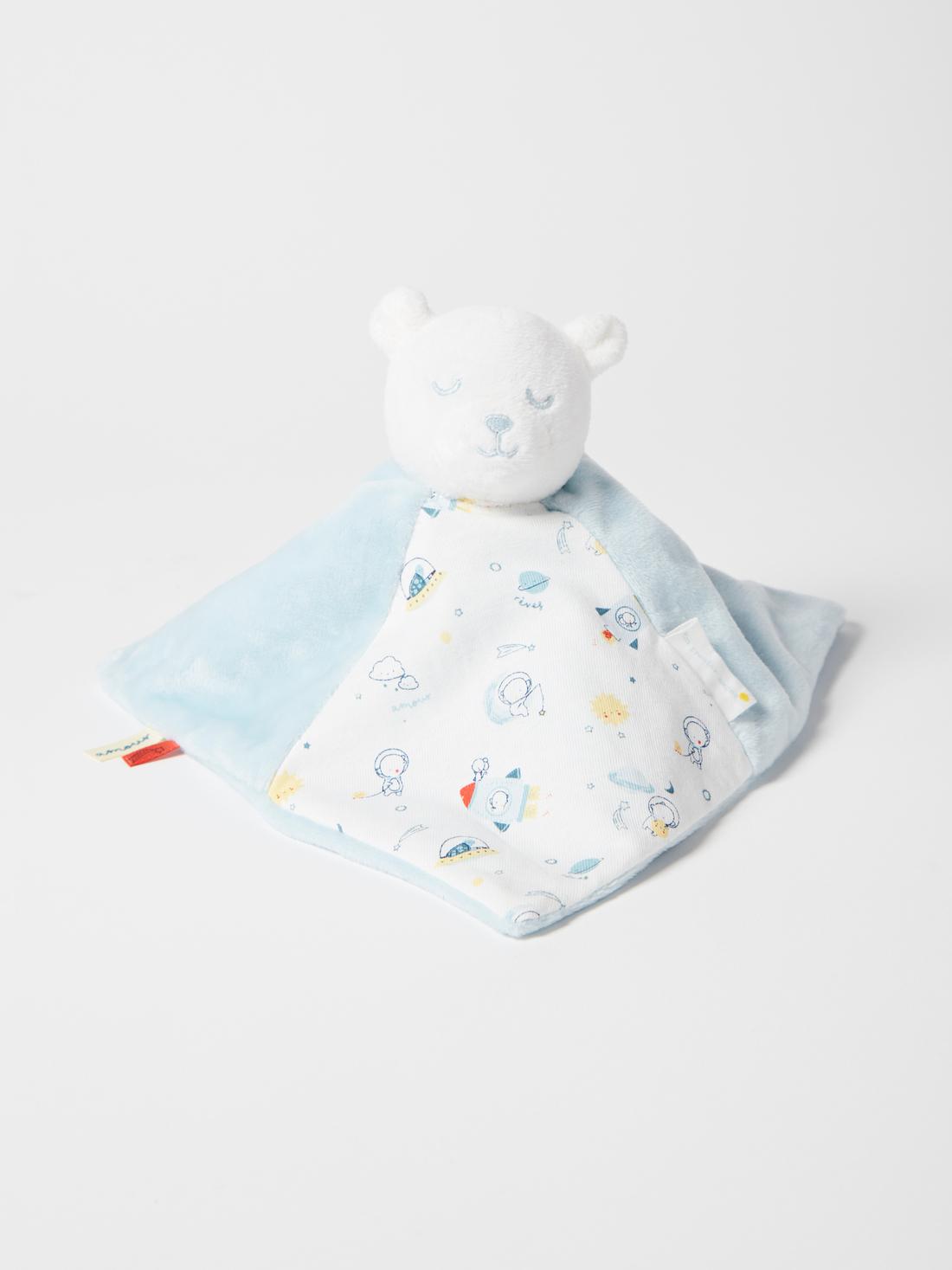 Doudou plat ourson bébé garçon