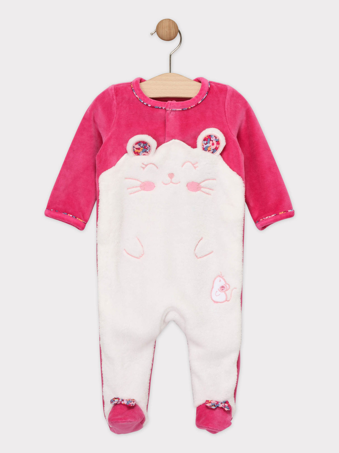 Grenouillere rose bébé fille