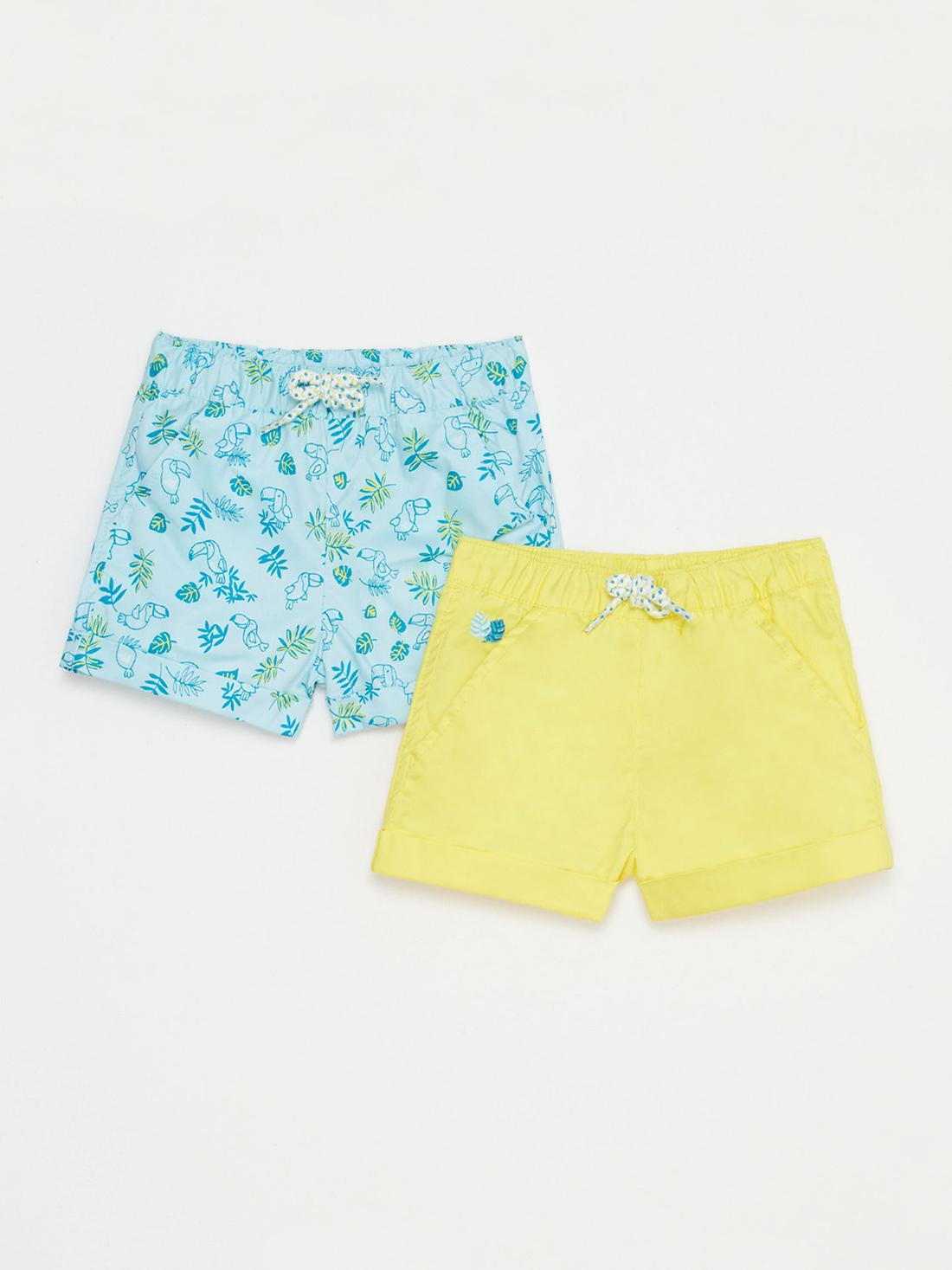 Lot de deux shorts bébé garçon